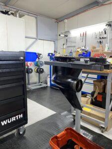Mercury Verado lower unit repair